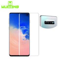 Pełny klej UV osłona ekranu ze szkła hartowanego do Samsung S10e Plus pełna pokrywa z kamery osłona obiektywu dla Smsung Note9 S8 s9P