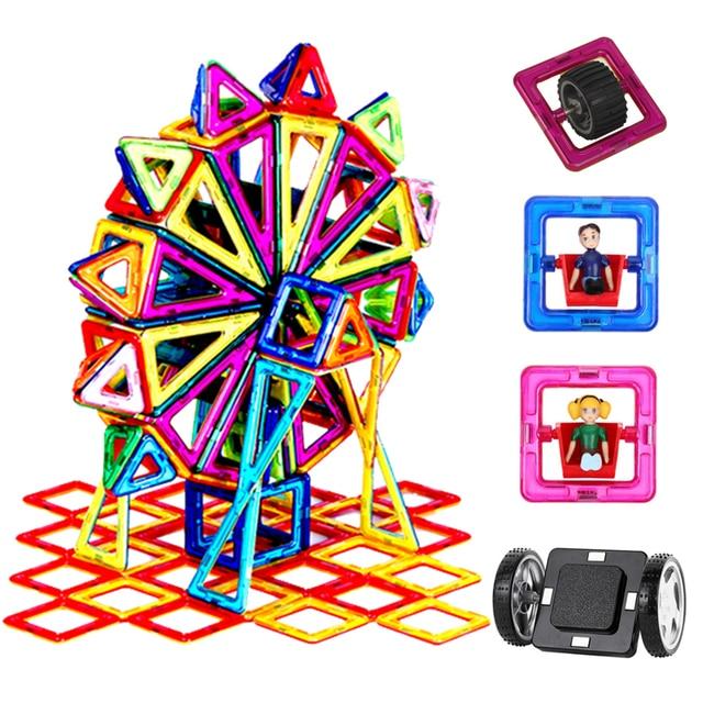 90 182ピース/セットビッグ標準サイズ磁気モデル & ビルディングブロックレンガデザイナーおもちゃ16異なる子供のためのセット誕生日ギフト