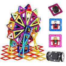 90 182ชิ้น/เซ็ตใหญ่ขนาดมาตรฐานแม่เหล็กชุด & Building Blockอิฐของเล่นออกแบบ16ชุดสำหรับเด็กวันเกิดของขวัญ