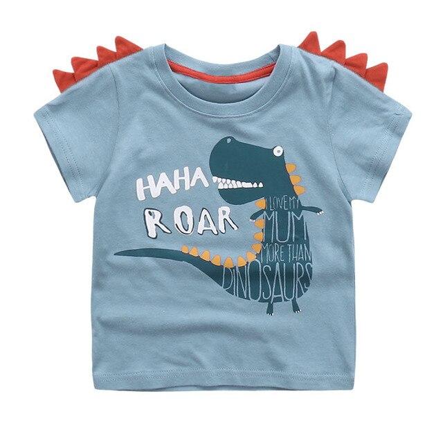 688860fd7 Cute Summer New Girls Boy T-shirt Children's Bottom Kids Lovely 3D Animal  Cartoon Shirt
