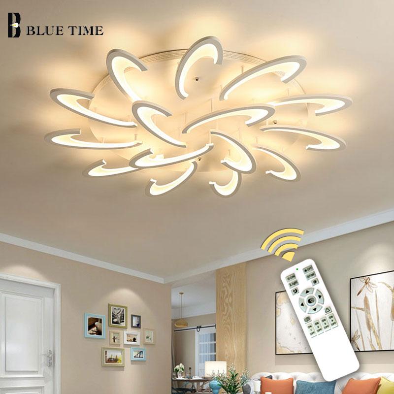 Plafond moderne à LEDs lumière salon salle à manger chambre Lustre LED Lustre plafonniers lampara déco techo luminaire