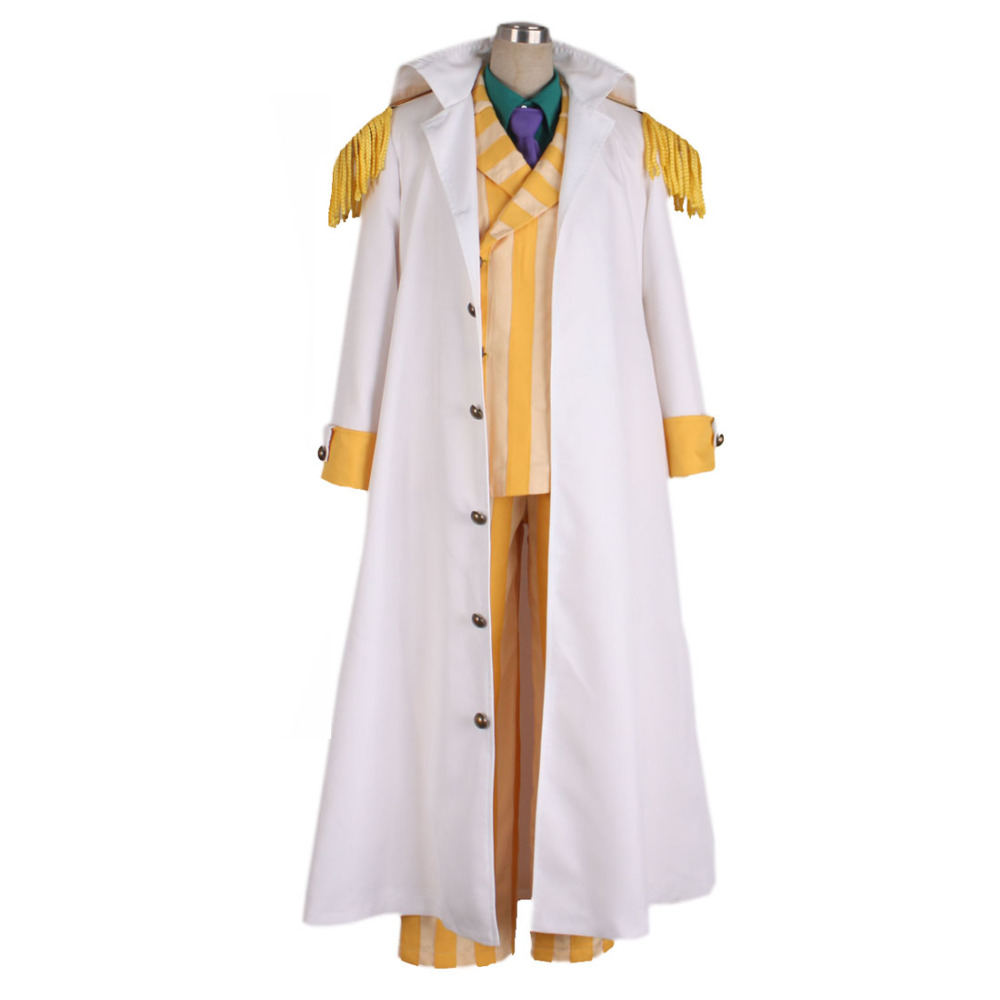 2017 One Piece Cosplay Costume Kizaru Taisho Borsalino Costume Cosplay Admiral Uniform Suit Set Outfit Halloween Hot Anime