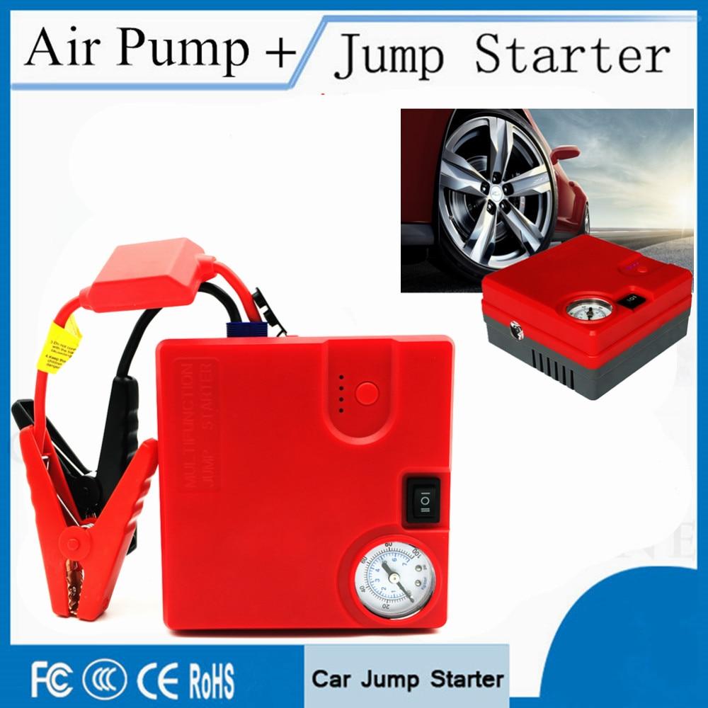 High Capacity 16800mAh Car Starter Air Compressor 12V  Portable Starting Device Booster For Car Battery Petrol Diesel Car Jumper