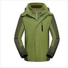 ГОРЯЧАЯ Зима пальто Куртки тройной Мужские Куртки водонепроницаемый теплый из двух частей Теплый ватник 2XL-4XL большой размер Низкие продажи