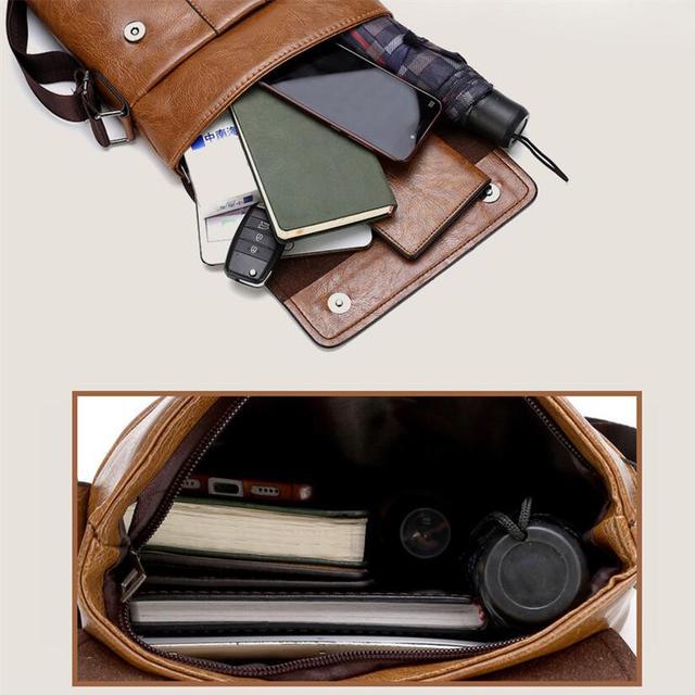 JEEP BULUO Men Shoulder Bag Set Big Brand Crossbody Business Messenger Bags For Man Fashion Casual pu Leather New Hot Salling 2