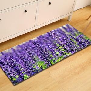 Image 4 - Gratis Verzending Paars Lavendel Anti Slip Badmat Deur Vloer Tapetes Para Casa Sala Tapijt Voor Toliet Antislip Alfombra Bano