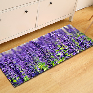Image 4 - Tapete antideslizante Para puerta de baño tapete antideslizante Para Casa Alfombra Para la Sala de estar, color morado y lavanda, envío gratis