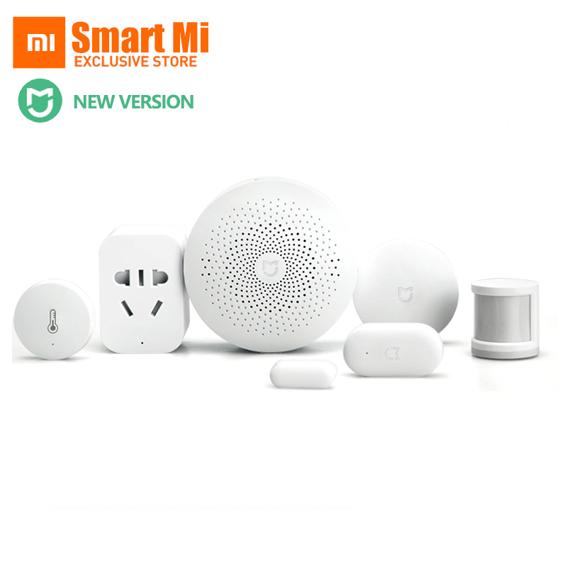 Original Xiaomi Smart Home Sets Gateway 2 Door Window Sensor Human Body Sensor Wireless Switch Multifunctional Smart Devices Kit new gift box original xiaomi smart home kit gateway door window sensor human body sensor wireless switch zigbee socket sets