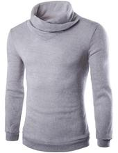 Autumn winter new casual Piles turtleneck full sleeve soft warm sweaters bottoming Slim Features men's clothes