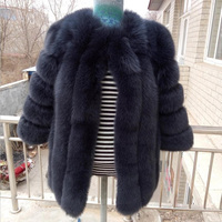 2018 New Arrival 100% Pure Handmade Knitted Ostrich Feather Fur Coat Women Factory Natural Fur Jacket SR142