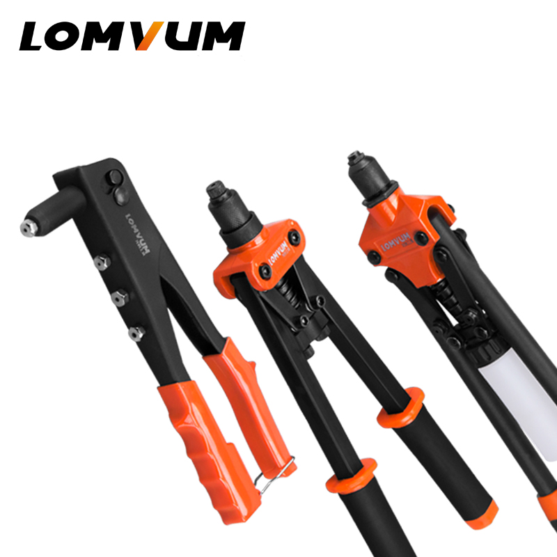 LOMVUM Riveter Gun Hand Riveting Kit Nuts Nail Gun Household Repair Tools LOMVUM Riveter Gun Hand Riveting Kit Nuts Nail Gun Household Repair Tools