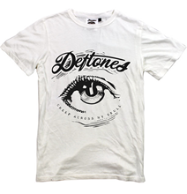 DEFTONES T-shirt New White T Shirt Eye S-XXL Alternative Metal Band Korn Tool Men Short Sleeve Funny Text