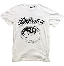 DEFTONES T-shirt New White T Shirt Eye S-XXL Alternative Metal Band Korn Tool T Shirt Men Short Sleeve Funny Text
