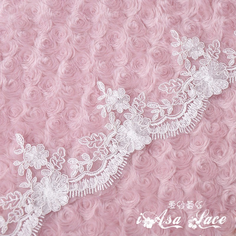 5m lot 9cm off white embroidered guipure lace fabric for for White lace fabric for wedding dresses