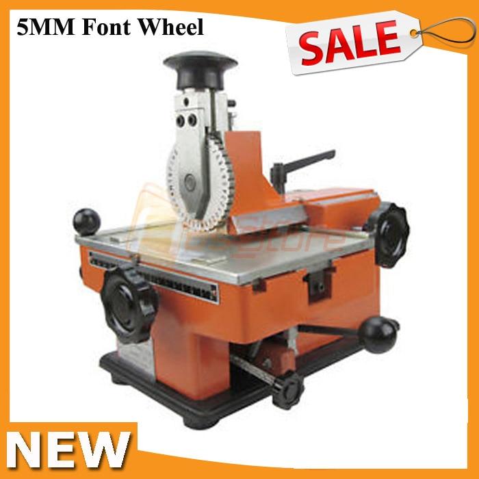 Metal Stamping Machine Tool Belarus: 5MM Font Wheel Deboss Embosser Machine Sheet Metal