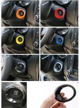 Lapetus Styling Auto di Arresto di Inizio del Motore Push Button Fotogramma Chiave Anello di Copertura Trim Colorful Fit Per Jeep Compass 2017 2018 2019/ABS