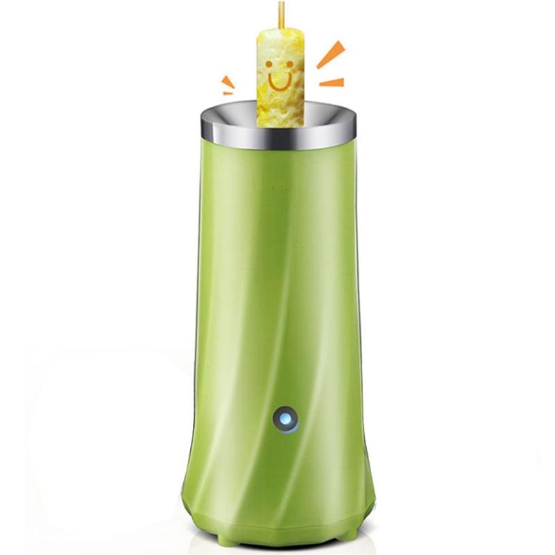 Однотрубное автоматическое многофункциональное устройство для изготовления рулетов Электрический яичный котел омлет мастер колбаса машина для завтрака яйцо инструмент - Цвет: Зеленый
