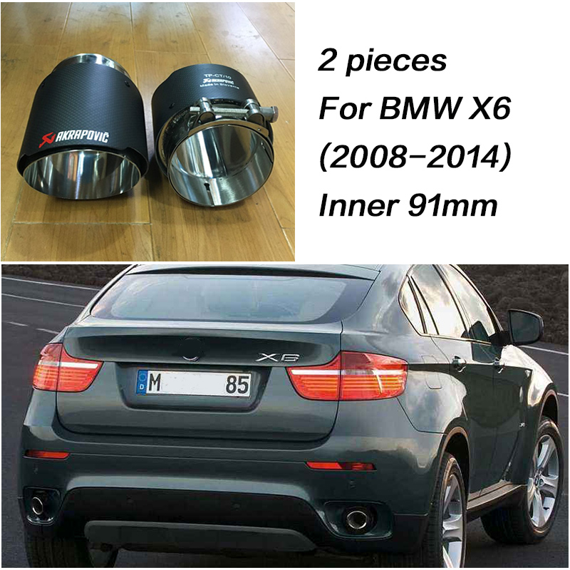 CNparts For BMW X5 E53 E70 X6 E71 F16 X1 F48 Accessories 2015 2016 2017 m Car Exhaust Tips Pipe Muffler Pipe Covers Carbon Fiber-in Mufflers from Automobiles & Motorcycles    3
