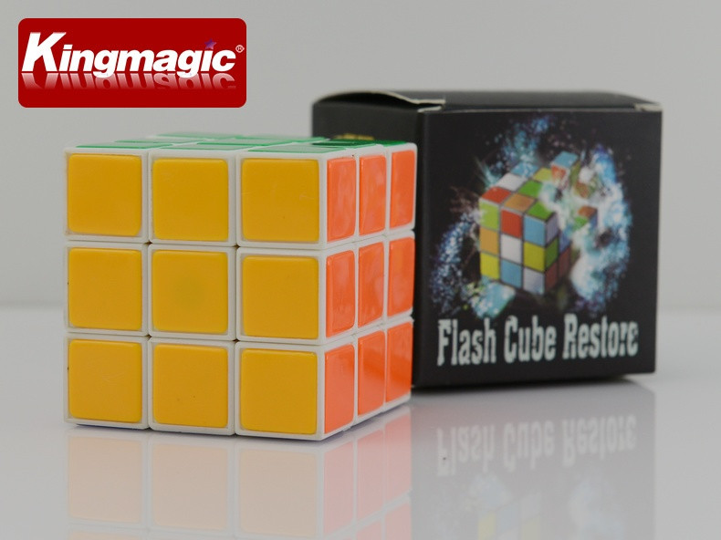 Улучшенный мгновенное восстановление куб флеш-куб восстановление высокого качества пластиковый куб волшебный куб волшебство игрушки магический реквизит трюки