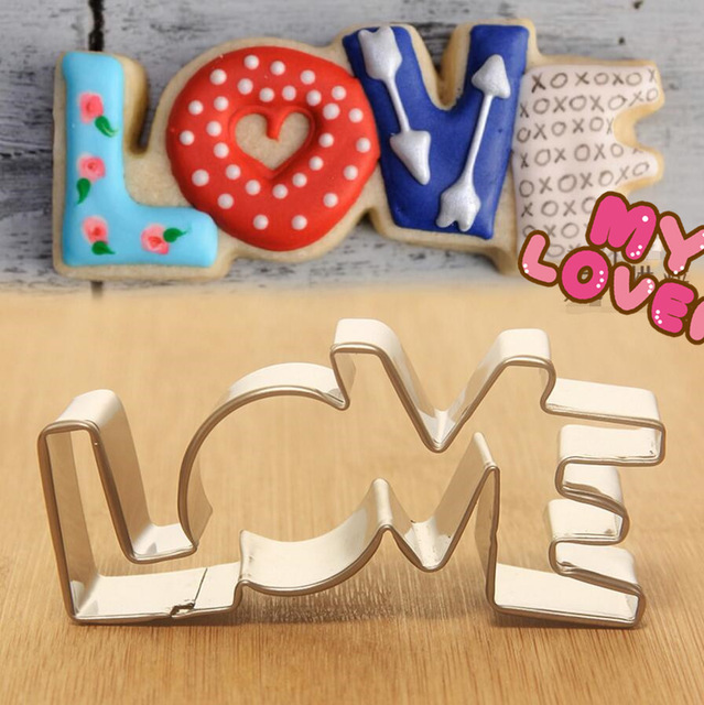 Lover series design stainless steel cookie cutter love - Home design app used on love it or list it ...