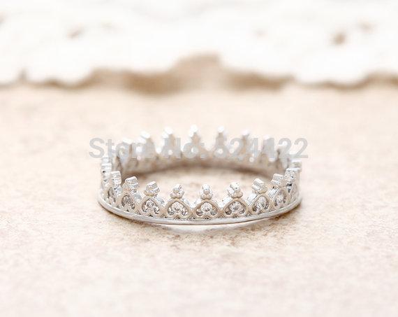 Min1pc Piccolo Cuore Tiara Ring, cristallo Multicolore/Argento/Rosa Colore Multi