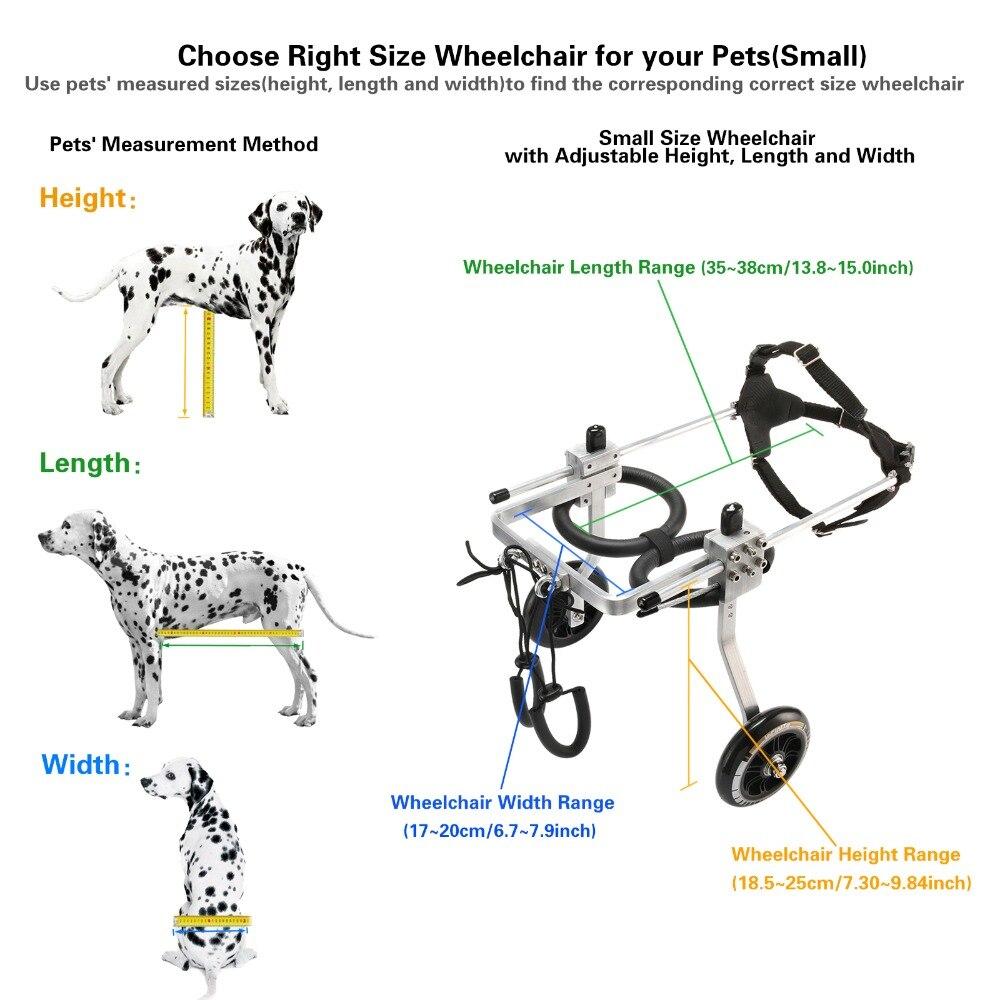 S-En Aluminium Panier Animal/Chien En Fauteuil Roulant Pour Handicapés Petit Chien/Chat/Toutou/Chiot