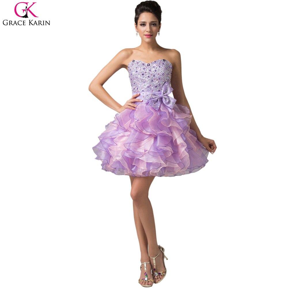 Online Get Cheap Short Purple Prom Dress -Aliexpress.com ...