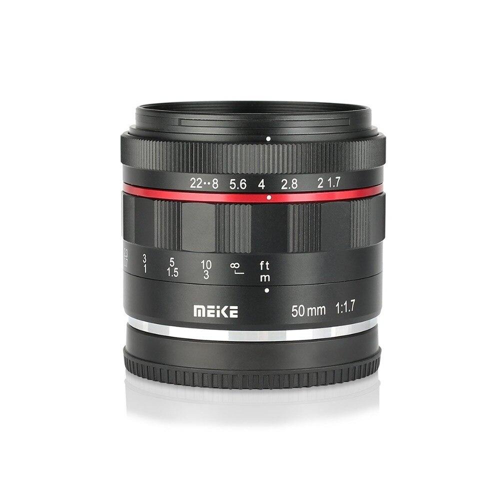 Meike 50mm f/1.7 objectif de mise au point manuelle à grande ouverture pour Canon EOS R mount/pour Nikon Z Mount Z6 Z7 appareils photo sans miroir + cadre complet - 2