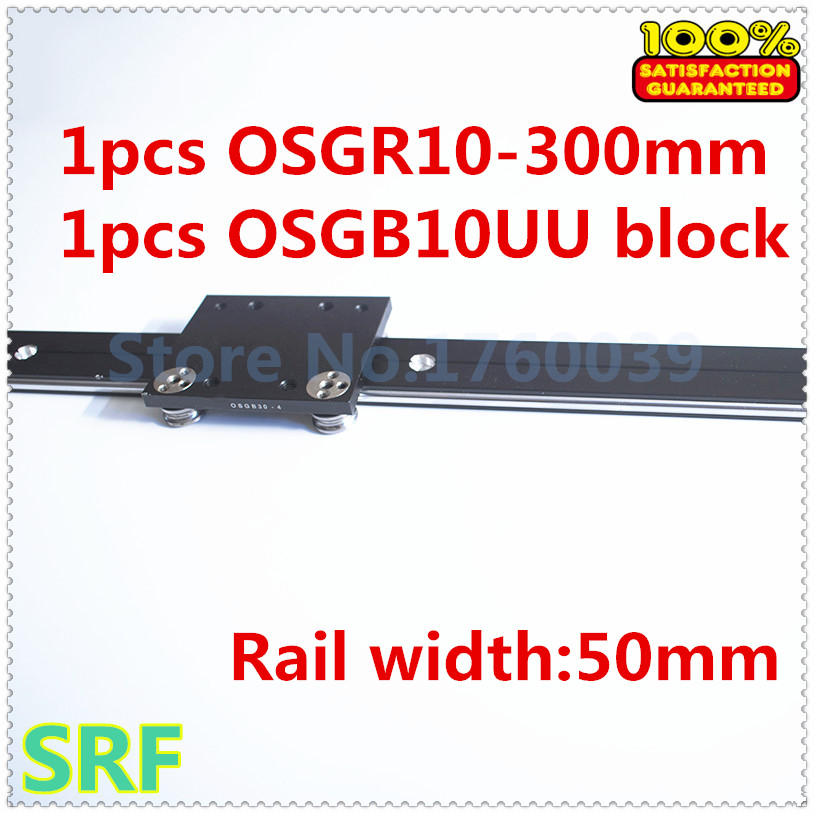 50mm width Aluminum roller linear guide rail external dual axis linear guide 1pcs OSGR10 L=300mm+1pcs OSGB10 block 50mm width aluminum roller linear guide rail external dual axis linear guide 1pcs osgr10 l 300mm 1pcs osgb10 block
