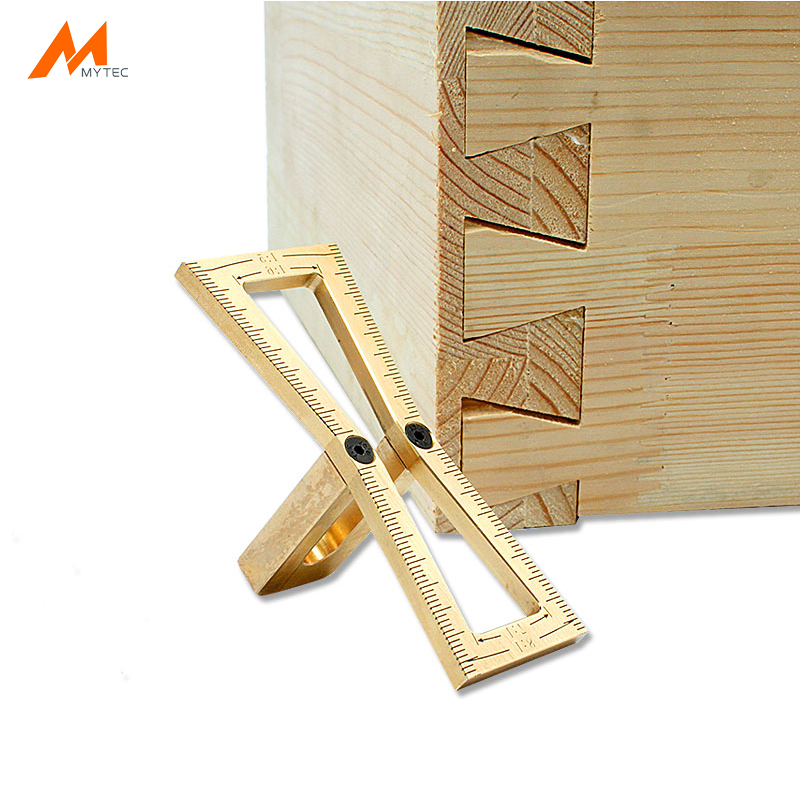 Us 14 99 40 Off Copper Dovetail Marker Hand Cut Wood Joints Gauge Dovetail Guide Woodworking Tools For Carpenter In Tool Parts From Tools On