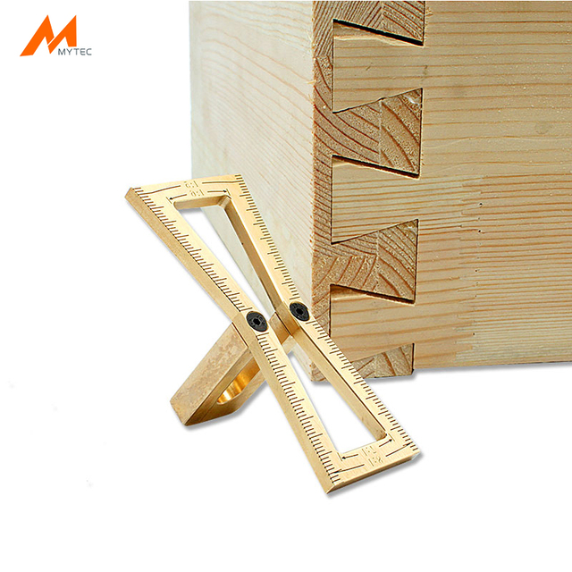Copper Dovetail Marker Hand Cut Wood Joints Gauge Guide Woodworking Tools For Carpenter