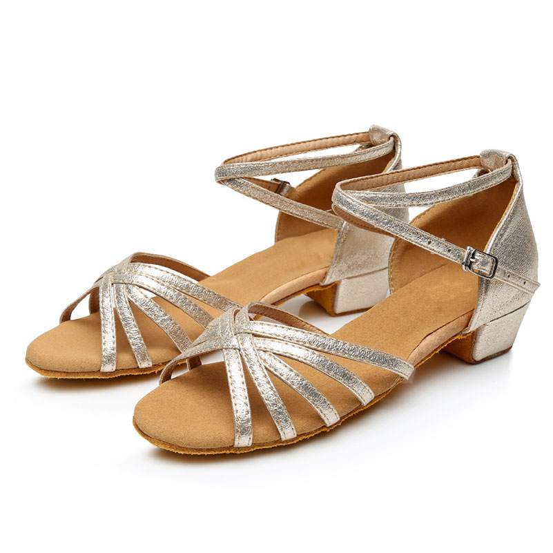 Womens Girls Kids New Ballroom Latin Tango Salsa Dance Shoes Low Heels 3.5cm EU Size 25--41 Dancing Sandals