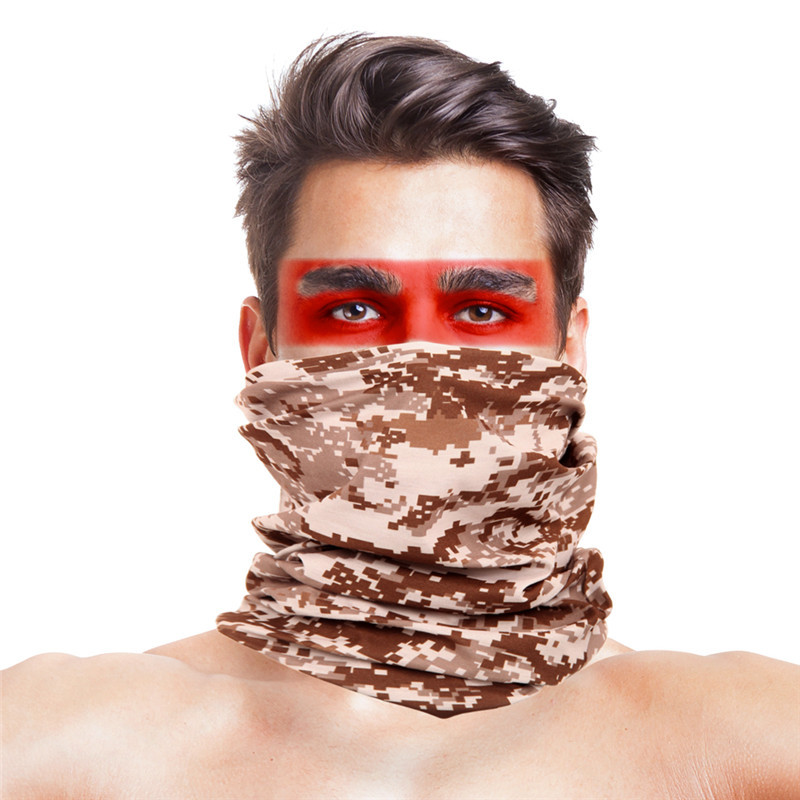 Camouflage Head Scarf Balaclava Neck Gaiter Buffe Cycling Bandana Sports Tactical Face Mask Shemagh Military Camo Face Shield