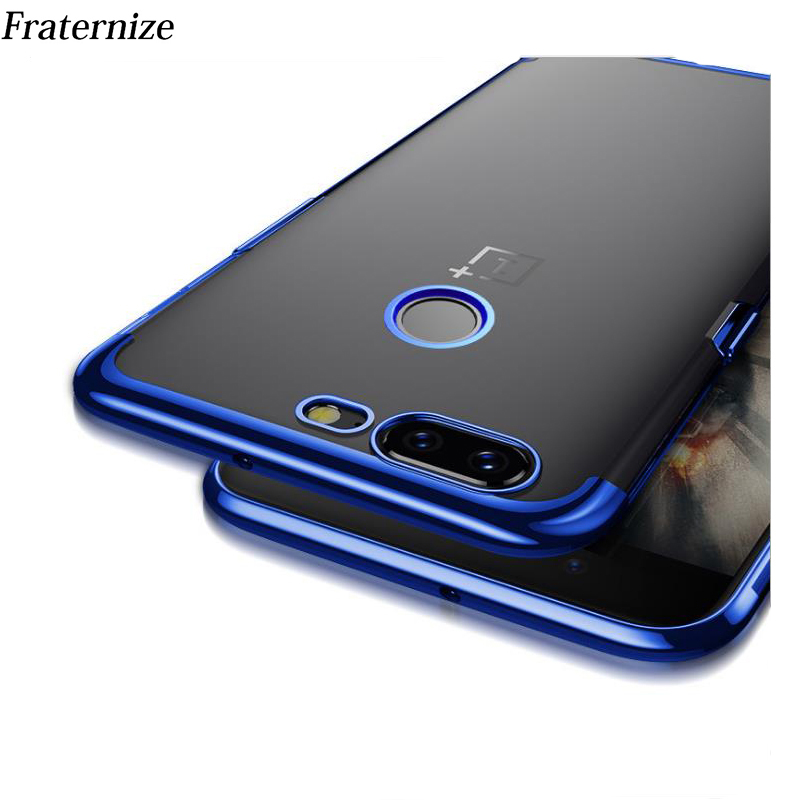 <font><b>OnePlus</b></font> 5T <font><b>Case</b></font> Luxury Soft Laser Plating Phone <font><b>Case</b></font> For One Plus 5T <font><b>A5010</b></font> Clear ultra thin Protective Back Cover For <font><b>OnePlus</b></font> 5 image