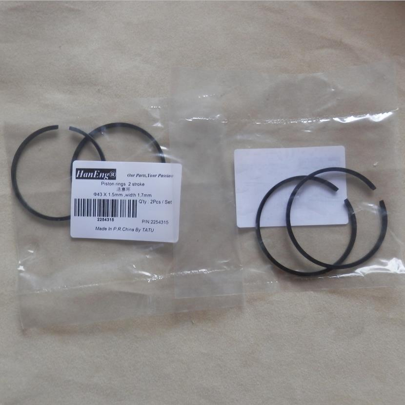 Piston Ring 43 x 1,2 mm Chainsaw Trimmer Brushcutter