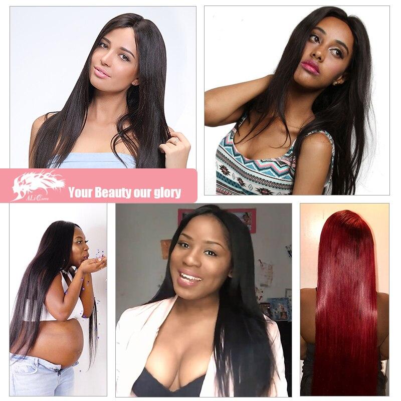 Brasilian Straight Hair Weave 1/3/4 Pcs Natural Black Remy Hair - Mänskligt hår (svart) - Foto 5