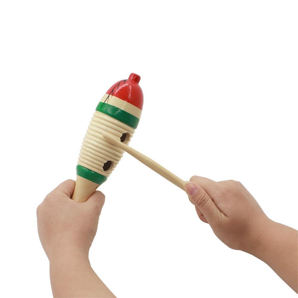 Деревянные Guiro с палкой в форме рыбы инструмент Orff развивающие, Обучающие музыкальные игрушки для детей
