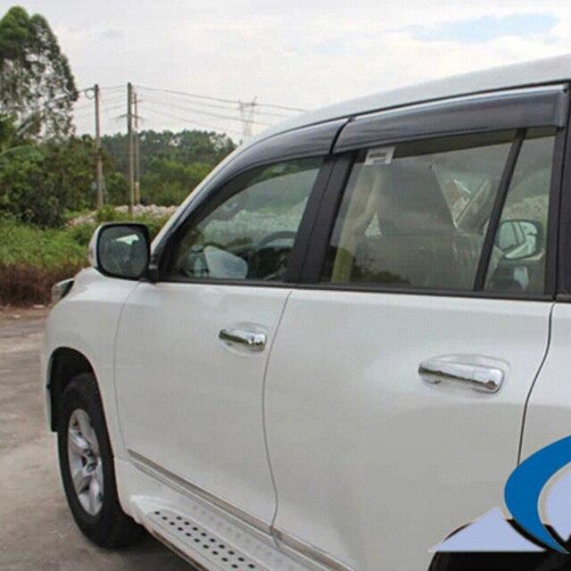 Для TOYOTA PRADO FJ150 2010-2015 ABS Пластик Литье Дождь Щит Окно Козырек Козырек Ветровики наклейки 4 ШТ.