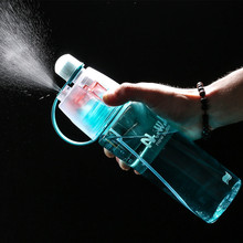 400/600ml  Hot Sale Spray Sport Moisturizing Drinking Water Bottle Portable Plastic Bike Bicycle Gym Shaker My Bottles
