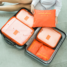6Pcs Waterproof  Suitcase Organizer Travel Storage Bags storage Packing Laundry Bag Case D35