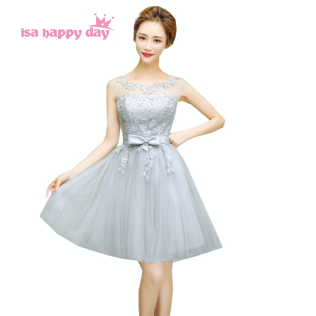 champagne gray bridesmaid party dresses formall dress size for ...