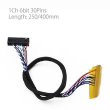 250 мм 400 мм 30 контактов драйвер платы Универсальный экран кабель FI-X30P-D6 для любого 30 pin 1 канал 1ch 6 бит LVDS кабель интерфейс