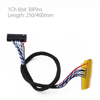 250mm 400mm 30Pins Driver Board Universal Screen Cable FI-X30P-D6 for any 30 pin 1 channel 1ch 6 bit LVDS interface - discount item  5% OFF Games & Accessories