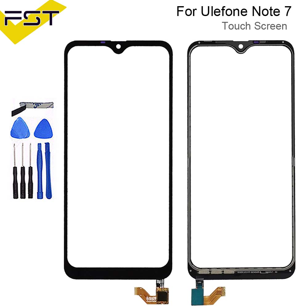 6.1'' Black For Ulefone Note 7/ S11 Touch Panel Touch Screen Digitizer Sensor Replacement Touch Glass Lens+Tools
