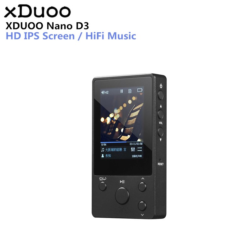XDUOO NANO D3 Professional Lossless Music MP3 HIFI Music Player with HD OLED Screen Support APE/FLAC/ALAC/WAV/WMA/OGG/MP3