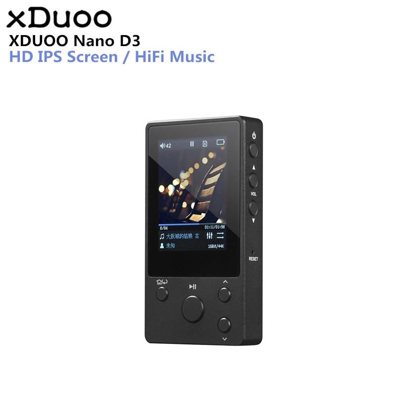 XDUOO NANO D3 Professionnel Sans Perte Musique MP3 HIFI lecteur de musique avec HD OLED support écran APE/FLAC/ALAC/WAV/ WMA/OGG/MP3