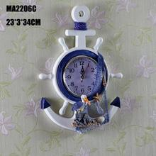 Mediterranean Home Decoration Mediterranean Style  Wall Clock home decoration accessories wall watch  Home Wall Anchor Helmsman
