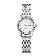 Женские наручные часы Kingnuos, брендовые, тип, сталь, светящиеся, Деловые женские часы, кварцевые, Hodinky, часы с датой, женские часы