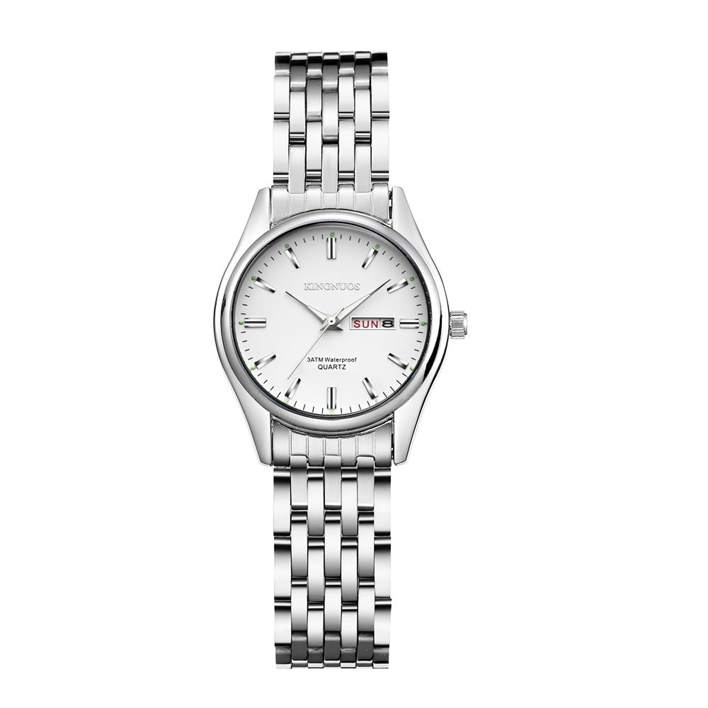 Relógio de pulso feminino kingnuos novo tipo de aço luminoso negócio feminino relógio de quartzo hodinky data senhoras relógios