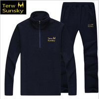 Free Shipping 2015 Terwsunsky HQ Men S Spring Autumn Sports Outerwear Fleece Casual Jackets And Pants